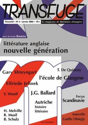 Couverture littérature anglaise nouvelle génération
