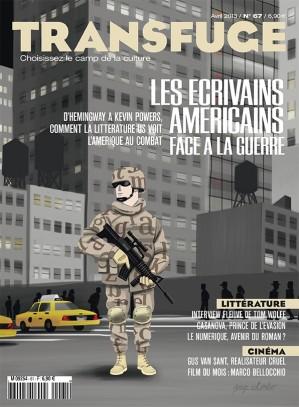 Couverture Les écrivains américains face à la guerre
